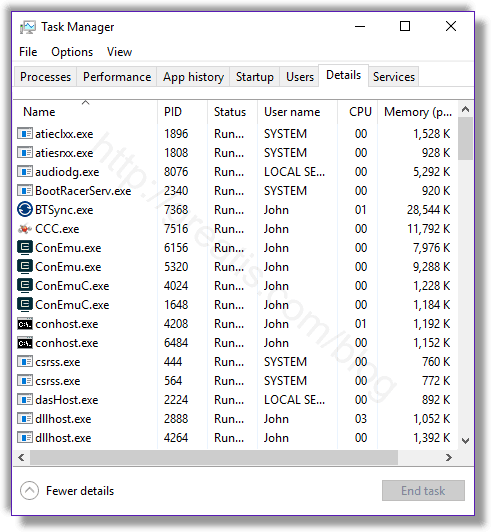 Remove RUNGAME.EXE virus from running processes