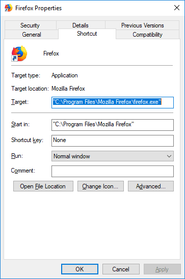 check shortcut's end for additional line