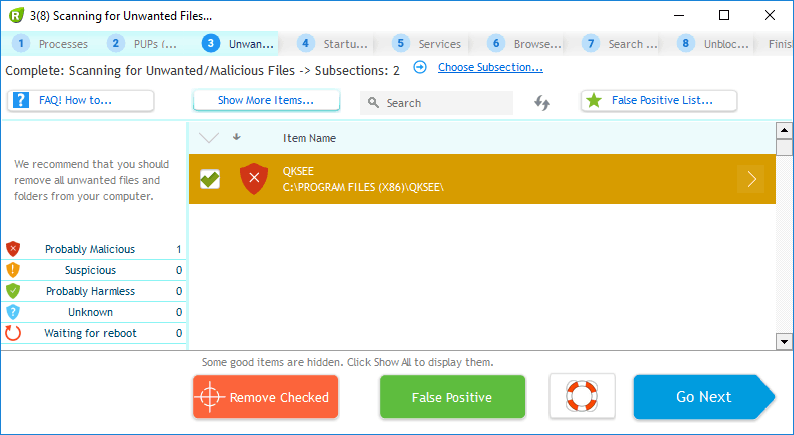 Remove a virus using UnHackMe