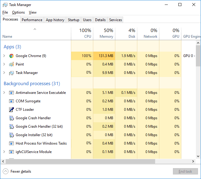 check task manager to terminate