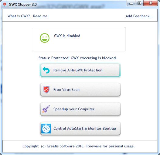 Click to view GWX Stopper 3.0 screenshot