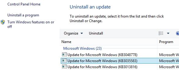 uninstall-update