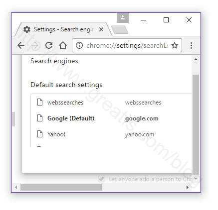 Set Chrome Default Search Engine
