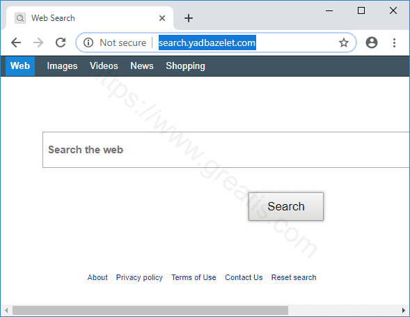 How to get rid of SEARCH.YADBAZELET.COM virus
