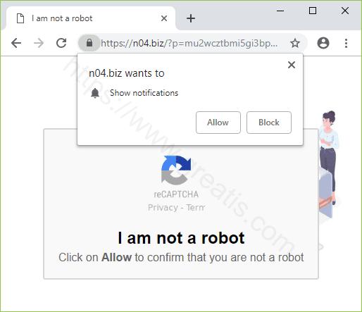 Remove N04.BIZ pop-up ads