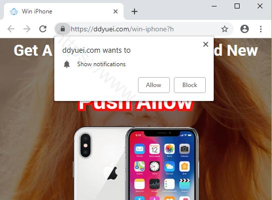 Remove DDYUEI.COM pop-up ads