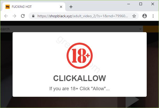 Remove SHOPBLACK.XYZ pop-up ads
