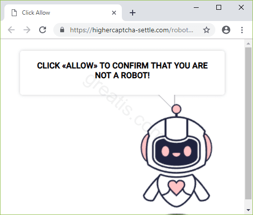 Remove HIGHERCAPTCHA-SETTLE.COM pop-up ads