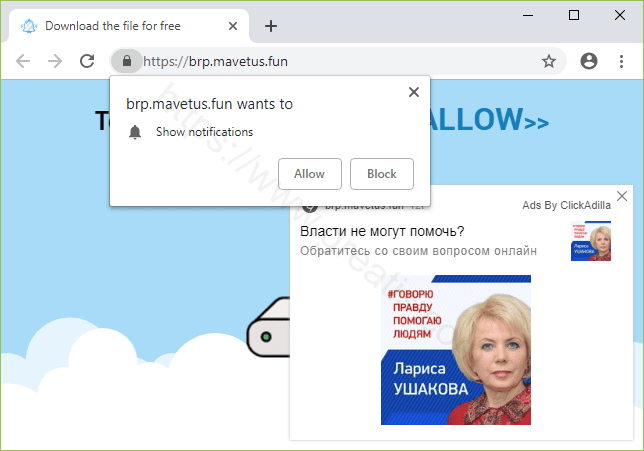 Remove MAVETUS.FUN pop-up ads