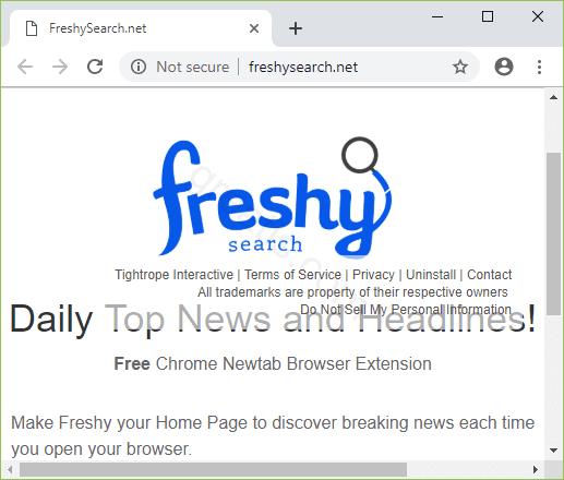 Remove FRESHYSEARCH.NET search hijacker