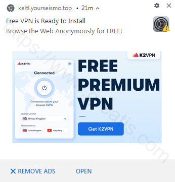 Remove KELTL.YOURSEISMO.TOP pop-up ads
