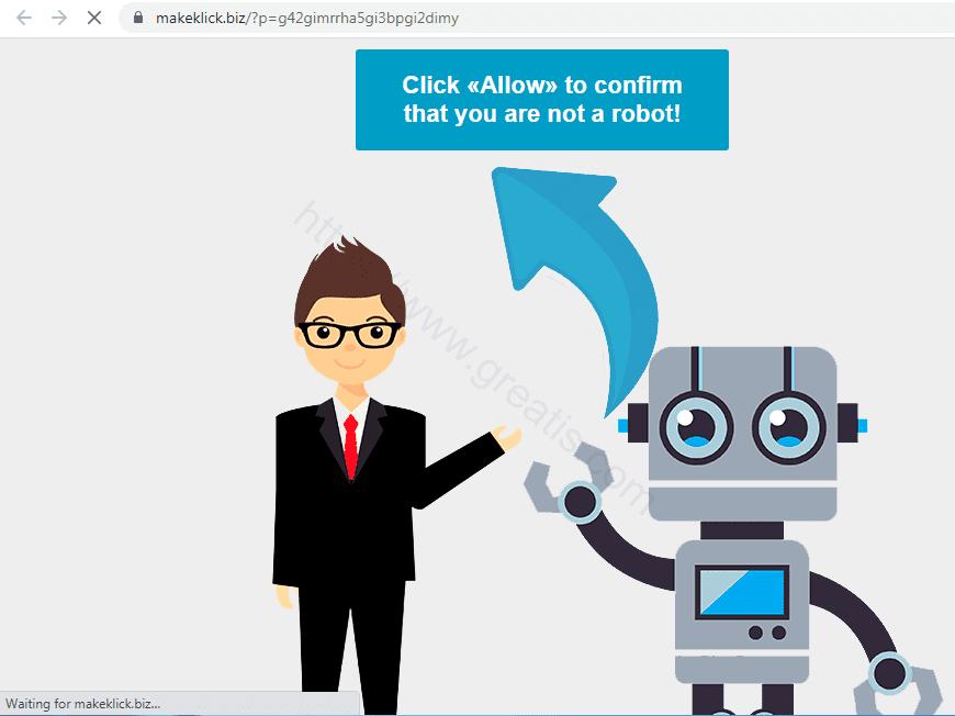 Remove MAKEKLICK.BIZ pop-up ads