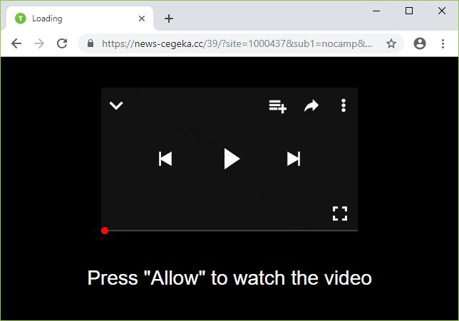 Remove NEWS-CEGEKA.CC pop-up ads