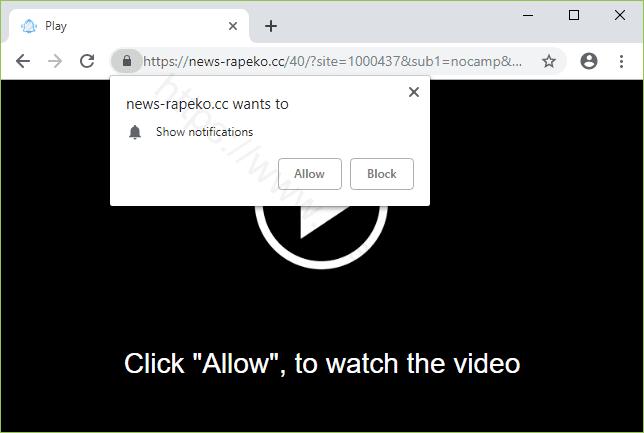 Remove NEWS-RAPEKO.CC pop-up ads