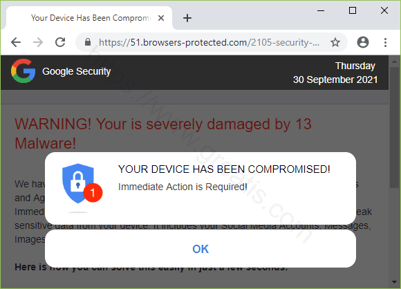 Remove BROWSERS-PROTECTED.COM pop-up ads
